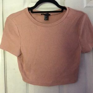Tops - Pink crop top